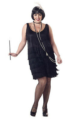Fashion Flapper Adult Plus Size Costume Roaring 20's