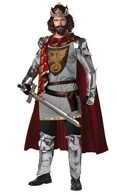 Renaissance King Arthur Medieval Knight Warrior Adult Costume](Medieval King Costumes Adults)