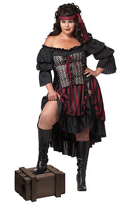 Sexy Pirate Wench Buccaneer Adult Plus Size - Women's Plus Size Pirate Costume