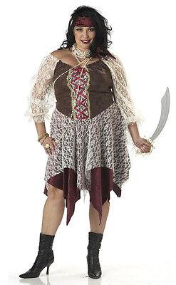 South Seas Siren Pirate Buccaneer Adult Plus Size Costume (Plus Size Women Pirate Costume)