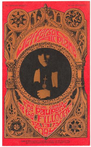 JEFFERSON AIRPLANE The Paupers 1967 Filllmore Postcard BG 63