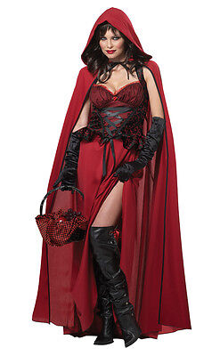 Dark Red Riding Hood Adult Costume Gothic Storybook (Red Riding Hood Adult Costume)