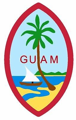 Seal Of Guam Sticker   Decal R728
