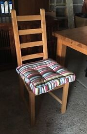 DINING CHAIRS - IKEA Country Pine FREE removable cushions 4 or 5 chairs avlbl Good condition BARGAIN
