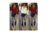 Ladies ripped jeans 12/14