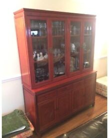 Chinese Rosewood Display Cabinet & Sideboard