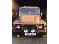LOW 73k MILES LAND ROVER DEFENDER 110 DIESEL BRAMD NEW CHASSI/FULL HISTORY/EXCELLENT BULKHEAD PX?