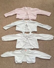 4 Debenhams 12-18 month baby girl cardigans