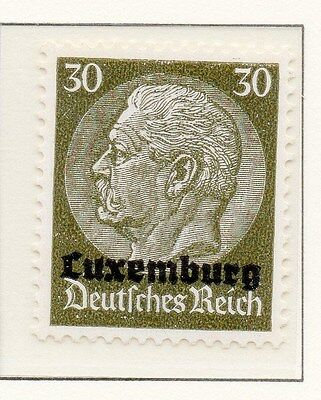 Luxembourg 1940 Early Occupation Issue Fine Mint Hinged 30c. Optd 150934