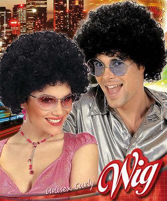cke schwarz für Damen und Herren NEU - Karneval Fasching Perü (Disco Perücken)