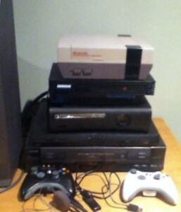 Xbox 360 with controllers & games