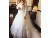Lace Wedding Dress Long Sleeves Vintage