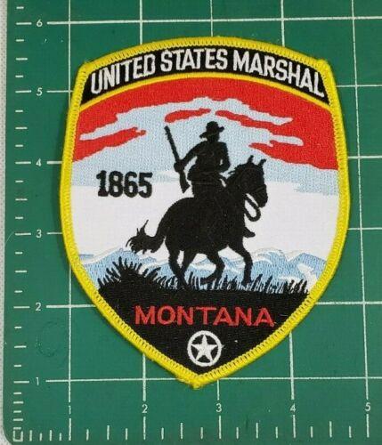 USMS U.S. UNITED STATES MARSHAL SERVICE MONTANA FEDERAL POLICE PATCH