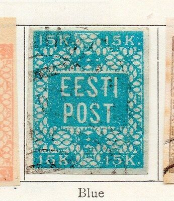 Estonia 1919 Early Issue Fine Used 15k. 170968