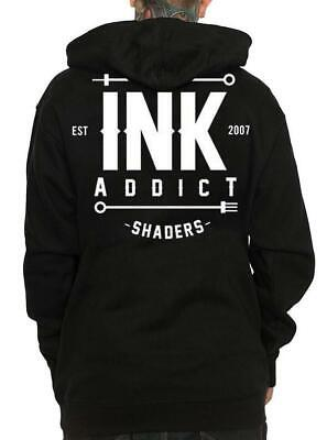 NEW UNISEX Ink Addict LINERS SHADERS Pullover Hoodie BLACK XSMALL-3XLARGE TATTOO