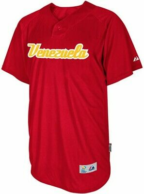 Venezuela Majestic 2013 World Baseball Classic Authentic Batting Practice Jersey