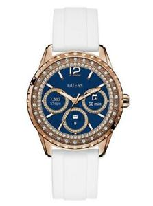 GUESS CONNECT- Touch Tactile - WHITE AND ROSE GOLD-TONE - Smartwatch - Size 41 - Brand New Sealed