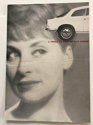 1961 Alfa Romeo 2000 Sprint w/Company Letter Original Car Brochure Catalog