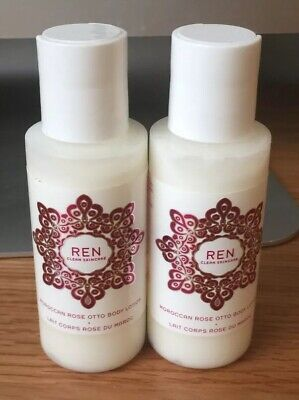 REN CLEAN SKINCARE Moroccan Rose Otto Body Lotion 2x50ml -Travel Size Brand New - Clean Rose Body Lotion