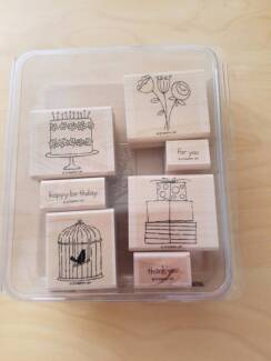 Stamps - Wooden - Scrapbooking - Happy Moments