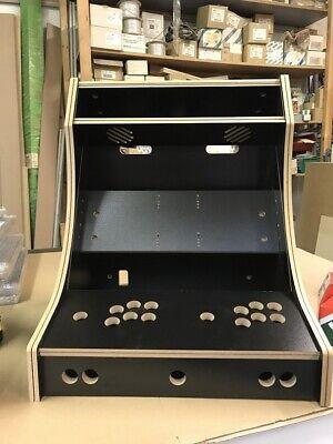 Bartop 2 Player Arcade Machine Cabinet 4:3 DIY Flatpack Kit JAMMA Pi - Black