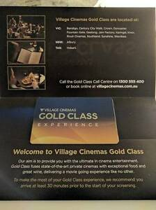 Village Cinemas - Gold Class Experience for 2 People Melbourne CBD Melbourne City Preview