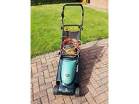Hayter Envoy 36 electric lawn mower with grass box and easy height adjustment