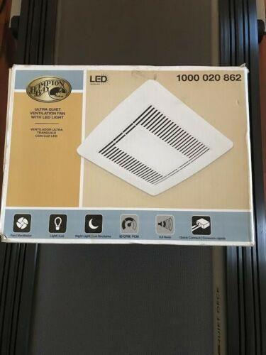 Hampton Bay 80 CFM Ceiling Bath Fan with LED Light