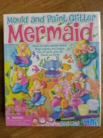 Kids Crafts - Mold and Paint Glitter Mermaid Kit - NEW unopened box