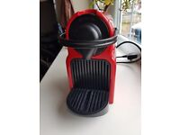 Nespresso Inissia Coffee Capsule Machine in Ruby Red by Krups