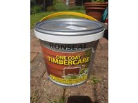Ronseal One Coat TimerCare in MEDIUM OAK, sealed tubs of 5 litres each x 10 tubs
