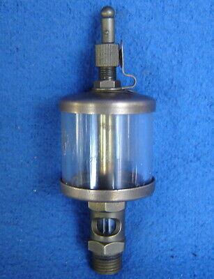 Vtg. Industrial Lubricator Brass Hit Miss Engine Oiler Steampunk Industrial Deco