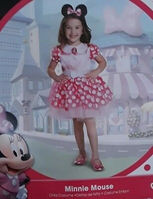 Disguise Kid's Minnie Mouse Deluxe Toddler Costume - Pink - Size: 3T](Minnie Mouse Toddler Costume 3t)