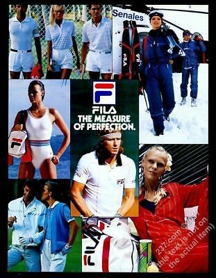 Borg Outfit (1982 Fila shirt shorts ski outfit jacket swimsuit Bjorn Borg photo vintage)