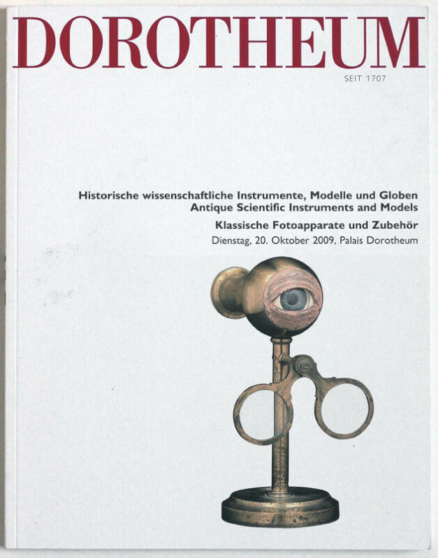 Dorotheum Vienna, Scientific instruments auction catalogue October 2009
