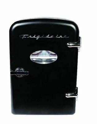 New Frigidaire EFMIS129 Portable Beverage 6 Can 4L Retro Mini Refrigerator Black for sale  Shipping to India