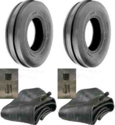 2 New 6.00-16 6 Ply Hd 6.00x16 Rib Imp Discwagon Farm Tractor Tires Wtubes