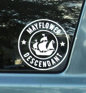 Mayflower Descendant Car Mini Decal Buy 1 Get 1 Free Free