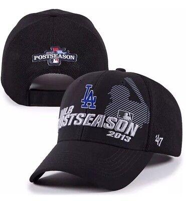 Los Angeles Dodgers 2013 Mlb Playoffs Locker Room 47 Brand Adjustable Hat Cap