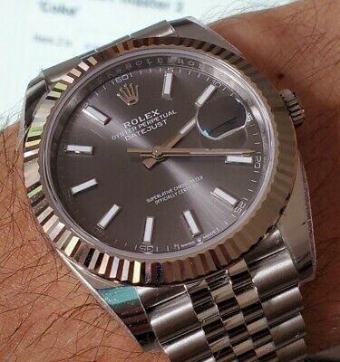 Rolex Datejust 41 Rodium Dial -Dial only!