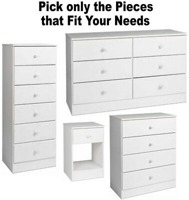 White Bedroom Furniture Dressers Nightstands Chest Dresser Drawer Sets 4 6 7 NEW