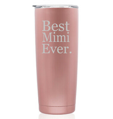 Rose Gold Double Wall Stainless Steel Tumbler Travel Mug Best Mimi