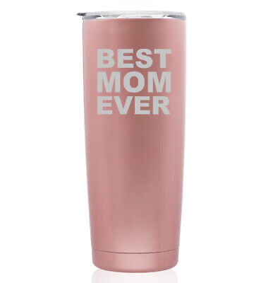 Rose Gold Double Wall Insulated Stainless Steel Tumbler Travel Mug Best Mom