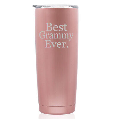 Rose Gold Double Wall Stainless Steel Tumbler Travel Mug Best Grammy