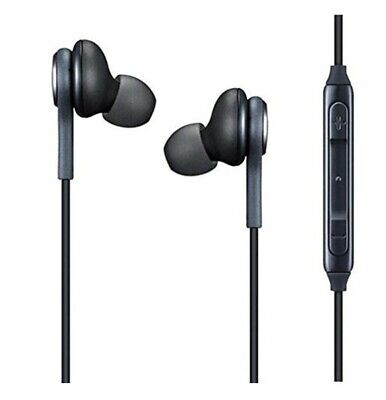 For Samsung Galaxy S8 S9 Plus Edge Note 8 9 EarBuds Headphones Headset Black