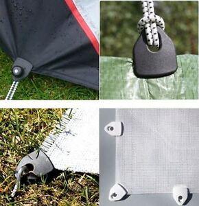 4 Black Holdon Clingons Tarpaulin clips Tarps Bivvies Tent Canopy Repair Camping