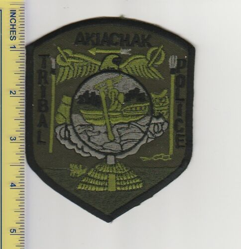 US Police Patch Akiachak Alaska Tribal Police Department Tactical