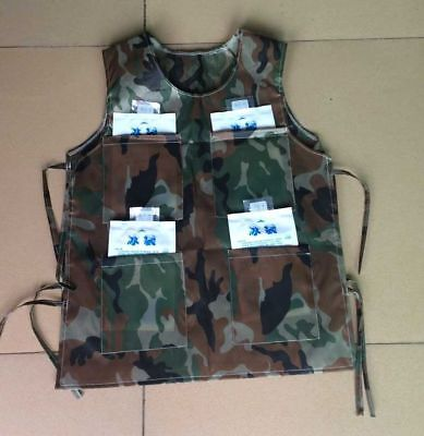 Mardi Gras Attire For Party (Cooling Vest With 8 Ice Bag for Mascot Costume suit camouflage dress party)