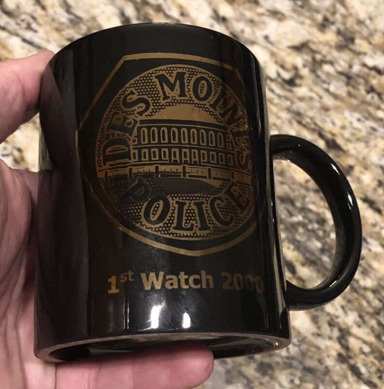 """Des Moines Police Rookie First Watch 2000 Coffee Mug. """"Go Hard Or Go Home"""""""