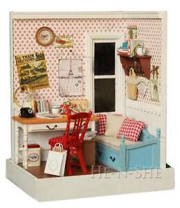 Diy Wooden Dollhouse Miniature W Light Home Decor Furniture Warm Memories F03